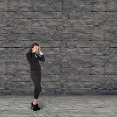 Businesswoman think