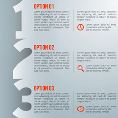 1-2-3 option infographics-paper progress template