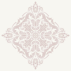 Floral  Pattern. Orient Abstract Pink Ornament