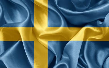 Swedish satin flag
