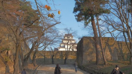 夕暮の鶴ヶ城