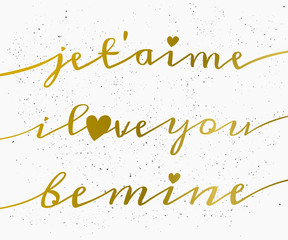 Hand Lettered St. Valentine's Day Card