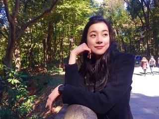 asian girl in Yoyogi park