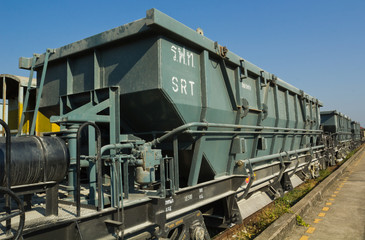 Bogie Hopper Wagon (BHW) under blue sky