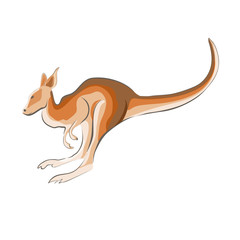 Illustration of a kangaroo.