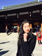 asian girl at Meiji jingu shrine