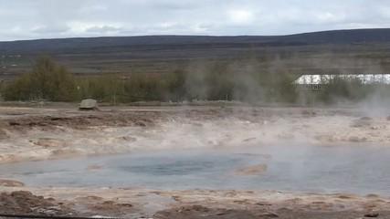 Beautiful eruption of the icelandic geyser Strokkur