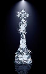 Diamond chess King, vector illustration