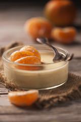 Orange tangerine mousse