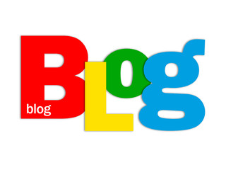 """""""BLOG"""" Letter Collage (social media news website web internet)"""