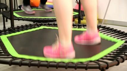 Trampolin beim Fitness