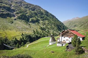 Village of Vent in Otztal, Tyrol, Austria