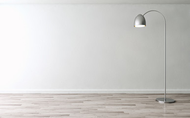 Stanza vuota con lampada