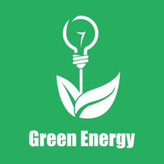 Vector green energy. Technologies of the future. Flat color eps1