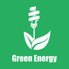 Vector green energy saving. Technologies of the future. Flat col