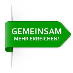 Langer grüner Sticker Pfeil – Gemeinsam mehr erreichen!
