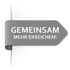 Langer grauer Sticker Pfeil – Gemeinsam mehr erreichen!