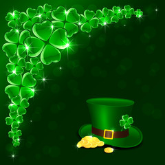 Patricks Day green background