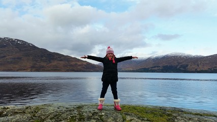 Girl in the Highlands