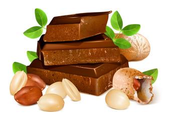 Chocolates with peanuts.