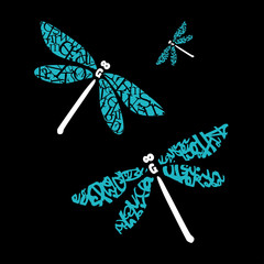 dragonfly of fonts