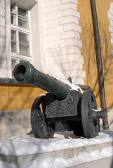 Old cannon shown in Moscow Kremlin. UNESCO Heritage Site