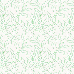 Abstract seamless background with green leaves