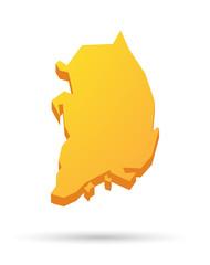 South Korea map icon