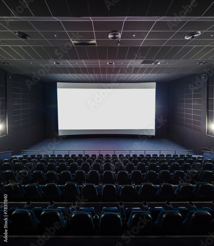 Interior of the modern theater. Front picture on a blank white s - 78311840