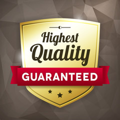 highest quality business gold label