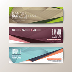 modern banner template with abstract triangle polygon background