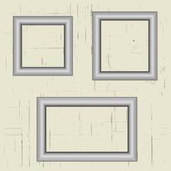 Set silver metal frame