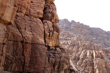 Rocks Wadi Mujib -- Jordan
