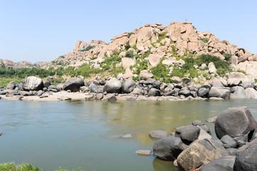 The river at Hampi