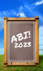 Strassenschild 34 - Abi 2023