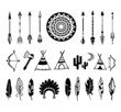 vector silhouettes of the bow and arrow - 78313453