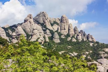 mountains of Montserrat,Spain