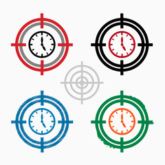 Alarm on target icons background.