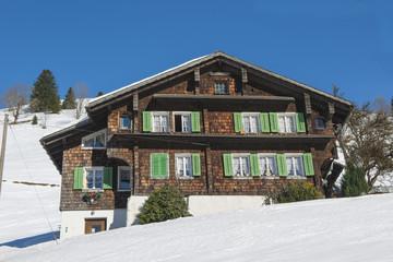 Bauernhaus in der Schwand bei Engelberg, Schweiz