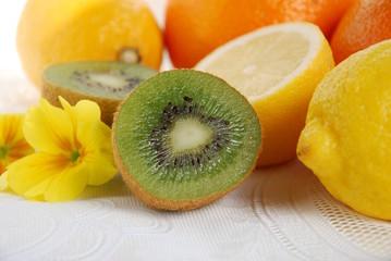 kiwi fruits and citrus fruits