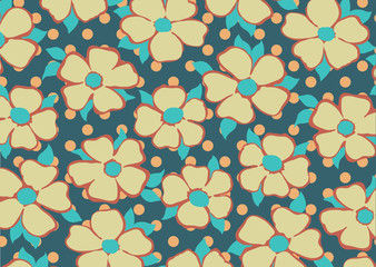 vintage flowers in pattern