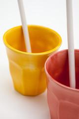 coppia bicchieri colorati