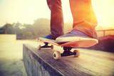 Fototapety skateboarding legs