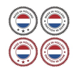 made in holland - badges