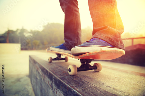 Fototapeta skateboarding legs