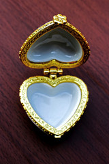Ring box shape heart