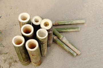 log of bamboo