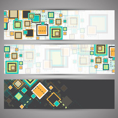 Set of web technology theme banners for your web site
