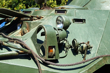 Part of a military armored vehicle
