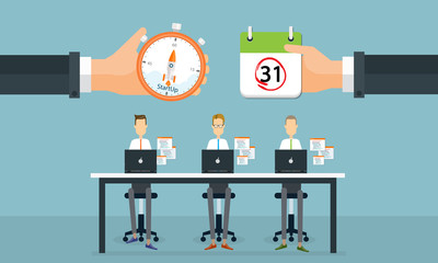 business people startup to business on working time